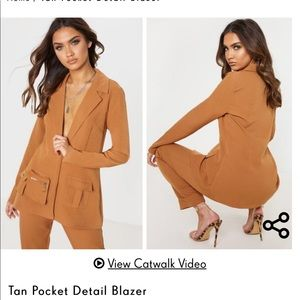 Pretty little thing tan suit